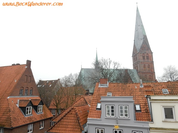 Stunning view of the roof tops in Lubeck, Germany