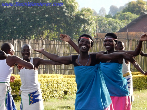Welcome Dancers at Volcano National Park headquarters, Rwanda