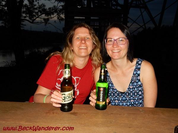 Drinking Nile Beer