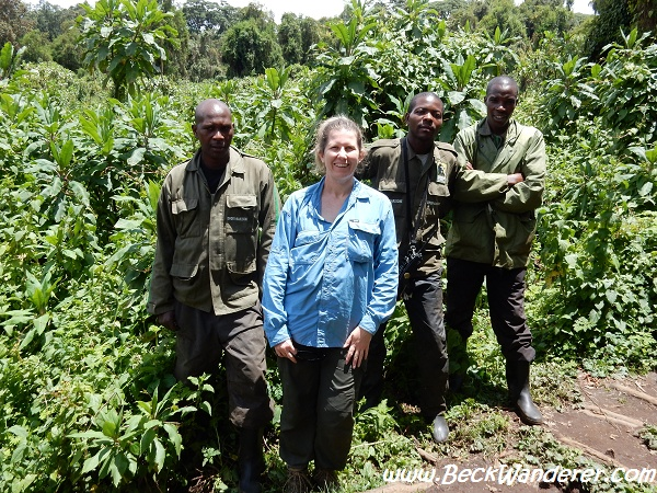 Gorilla trackers and me, Volcano National Park, Rwanda