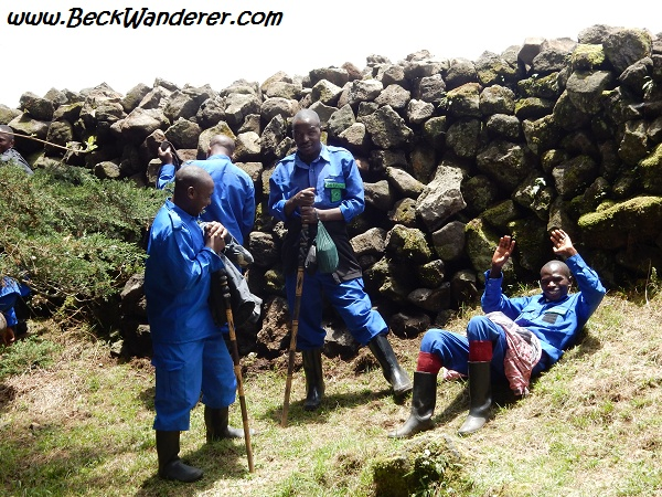 Our porters on the gorilla trek, Volcano National Park, Rwanda
