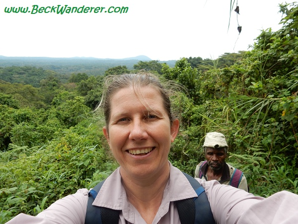 Selfie with the tracker, Queen Elizabeth National Park