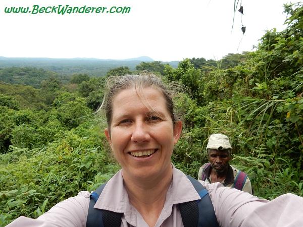 Selfie with the tracker, Queen Elizabeth National Park