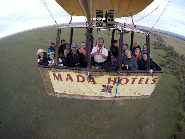 Go Pro Piccie of the Hot Air Balloon