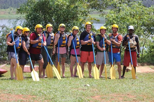 White water rafting crew, the Nile, Jinji, Uganda