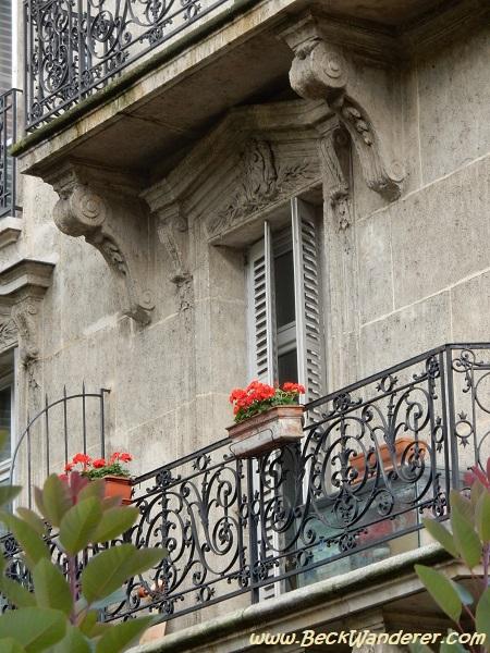 A beautiful, ornate window sill in Paris