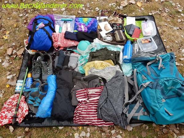 Everything I packed for my Camino de Santiago